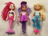 Barbie Chelsea Dreamtopia Dolls Pack 3 Princess, Mermaid and Fairy
