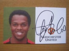 2002-04 Quinton Fortune Firmado Man Utd Club Tarjeta B (3047)