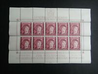 Germany Nazi 1943 Stamps MNH Sheet Nicolaus Copernicus Overprint Generalgouverne