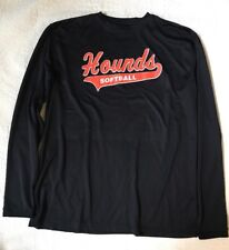 Offical Issue Hounds Softball Black Long Sleeve Shirt Mens Large