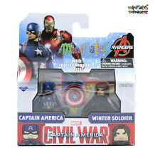 Marvel Minimates Series 66 Captain America Civil War Movie Cap & Winter Soldier