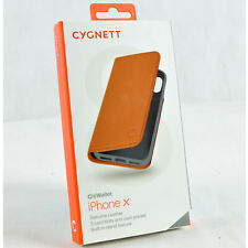 New Cygnett CitiWallet Leather Rugged Wallet Folio Flip iPhone X & XS Case Cover