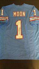Warren Moon Autographed Houston Oilers Custom Jersey (SM COA and Hologram)