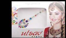Bindi long- bijou de peau mariage danse oriental strass multicolore-  FS13Q 3095