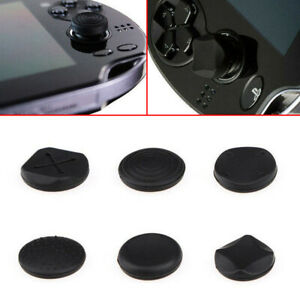 6pc Durable Silicone Analog Thumb Stick Grip Cap Cover For PSV 1000/2000 PS Vita