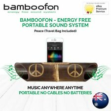 BambooFon - Energy Free Portable Sound System - Peace (Travel Bag Included)