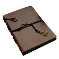 60 Photos PU Leather Photo Album Memo Book DIY Scrapbook Brown 6 Inch