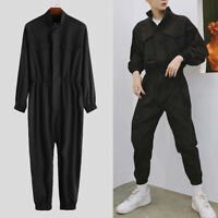 Men's Long Sleeves Casual Loose Jumpsuit Hip-hop Dance Street Overalls Playsuits