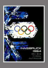 INNSBRUCK 1964 Winter Olympic Games Official Olympic Museum POSTER Reprint