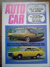 AUTOCAR 23 NOV 1972 Renault 15 TL Ford Mustang Cortina GXL BMW 3.0 CSL Citroen