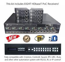 4K 8x16 HDbaseT HDMI Matrix Switcher 1080P UHD 8x8 Ethernet Internet IP 16x16
