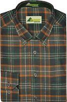 Jagd- & Freizeithemd hemd mit Button Down kariert oliv-rost von SKOGEN