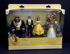 DISNEY Parks FIGURE FASHION Set BELLE DELUXE Beauty & The Beast Cake Topper NEW