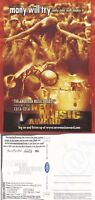 2001 AMERICAN MUSIC AWARDS UNUSED ADVERTISING COLOUR POSTCARD