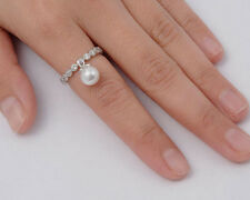 USA Seller Dangle Freshwater Pearl Ring Sterling Silver 925 Best Jewelry Size 5