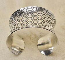 Vintage Sterling Silver .925 Honeycomb Design Cuff Bracelet 49 Grams