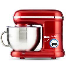 Stand Mixer Retro Food Mixer Design VonShef 800W Red Black Cream and Pink