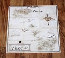 Vanguard Saga of Heroes Telon Rare small Poster / Map 36x36cm