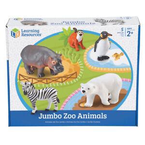Learning Resources Jumbo Zoo Animals, 5/pkg