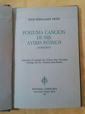 Postuma Cancion de mis ayeres intimos por Jesus Hernandez Ortiz Puerto Rico 1964