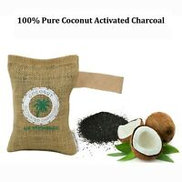 100% NATURAL ACTIVATED CHARCOAL Deodorizer Eliminator Dehumidifier for Wardrobe
