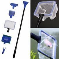 Aquarium Cleaning Tool Kits Fish Tank Algae Vacuum Gravel Glass Cleaner Brush