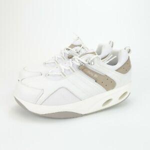 Chung Shi Womens Atlanta Time To Balance White Gray Leather Toning Shoes Size 10