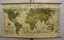 Wandkarte Weltkarte Schätze der Erde 241x149 vintage Treasures of the world 1947
