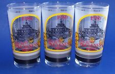 Pimlico 111 Preakness Glass Tumbler 1986 Horse Race Baltimore MD Black Eye Susan