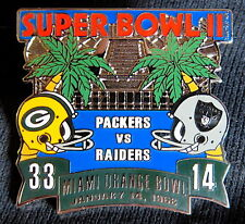 SUPER BOWL 2 ~ GREEN BAY PACKERS / RAIDERS Final Score LAPEL PIN Willabee & Ward