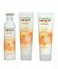 Cantu Shea Butter Hair Care FOR KIDS Set.  Curling Cream ,Styling Custard, Cond.