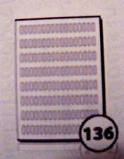 136 oblunghi Kraft Marrone STAMPANTE LASER BIANCO PREZZO ADESIVI appiccicoso etichette 6 x 20mm
