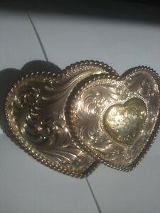 Montana Silversmith Dual Heart Belt Buckle