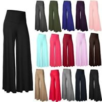 Womens Boho Floral Long Pants Palazzo Baggy Wide Leg Summer Casual Yoga Trousers