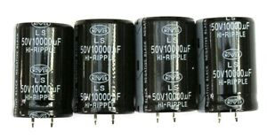 4 Nover Type LS 10000uF 50V Snap-in General Purpose Electrolytic Capacitors