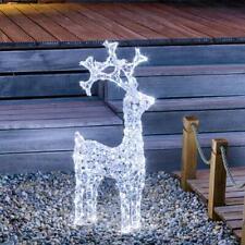 PREQU' Renna Di Natale Luminosa con cristalli 200-150-80 Led Bianco Ghiaccio