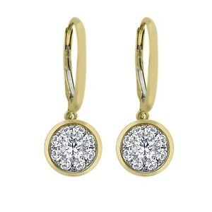 BRAND NEW 0.62 CT.T.W. Unity Diamond Earrings in 14K Yellow Gold (I, I1)