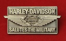 RARE HARLEY DAVIDSON SALUTES THE MILITARY VEST PIN * NEW ON CARD * DISCONTINUED