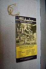 Vintage 1967 Schwinn Middleweight Bicycle Coaster Brakes Owners Manual Book