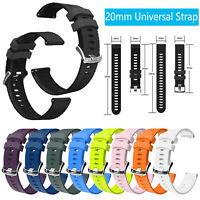 For Garmin Samsung Huawei Huami Ticwatch 20mm Silicone Watch Strap Wristband