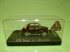 SOLIDO 4538 RENAULT 4CV DECOUVRABLE - BROWN 1:43 - GOOD CONDITION IN SHOWCASE
