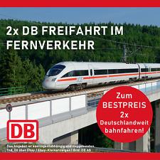 2x DB Bahn Fahrt Ticket Gutschein Freifahrt Deutschland Ecouponwie Lidl +Freitag