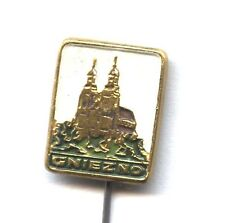 pin Polish city badge Gothic cathedral in Gniezno (Gnesen) POLAND