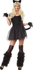 4 PC BLACK KITTY CAT COSTUME KIT HEADBAND EARS, TAIL GLOVES LEG FURIES MR156192