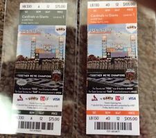 San Francisco opening day unused ticket stub 4/5/2013 st. louis cardinal