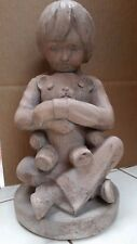 *Vintage* Small Boy Hugging his Teddy 1982 Austin Prod. Inc. Sculpture