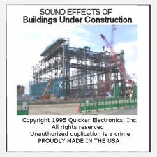 GREAT BUILDINGS UNDER CONSTRUCTION SOUND EFFECTS CD FOR MODEL RAILROADS
