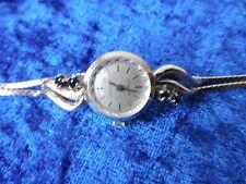 schöne,alte Armbanduhr__835 Silber mit Steinen__Condor___ !