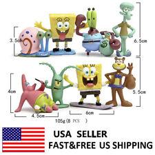 SpongeBob SquarePants Patrick Star Movie Action Figure Kids Xmas Toys Gift 8 Pcs