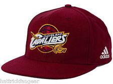 ADIDAS NH40Z NBA CHASE FLATBRIM SNAPBACK BASKETBALL HAT/CAP- CLEVELAND CAVALIERS
